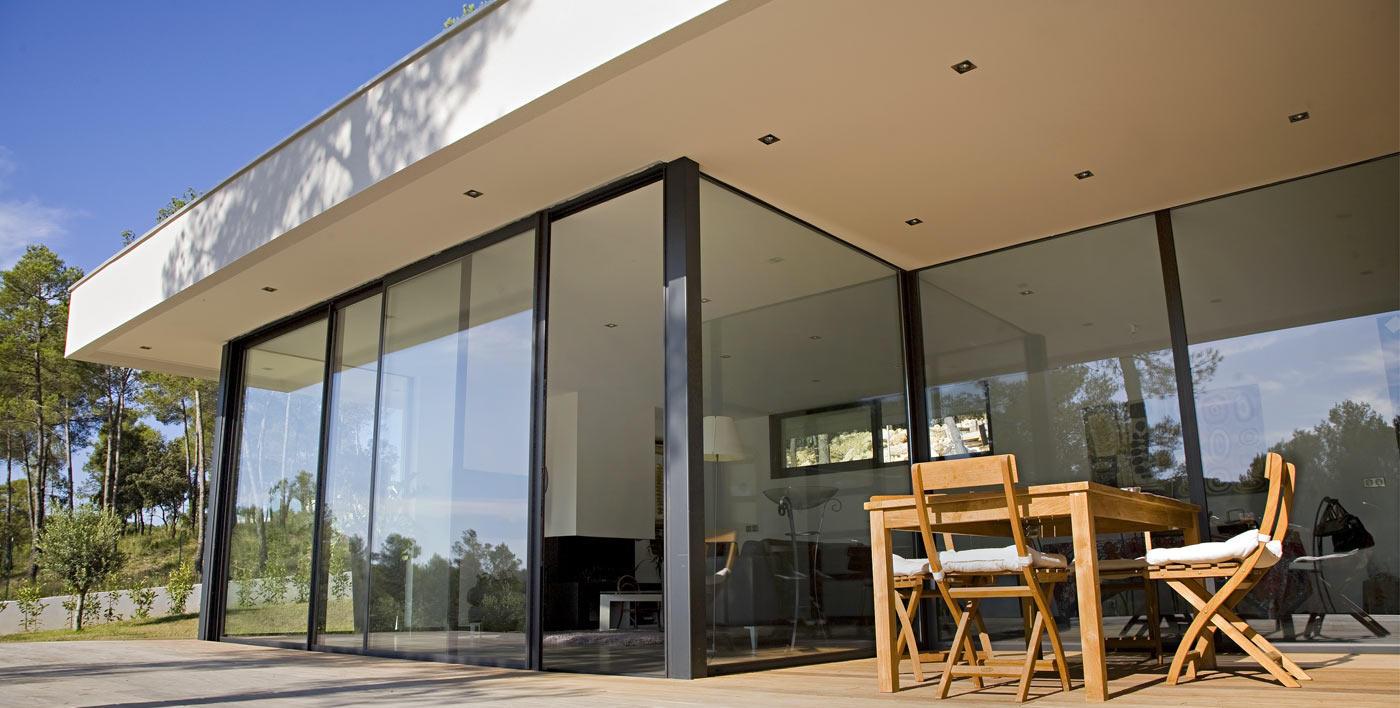baies coulissantes galandage aluminium aluminium. Black Bedroom Furniture Sets. Home Design Ideas